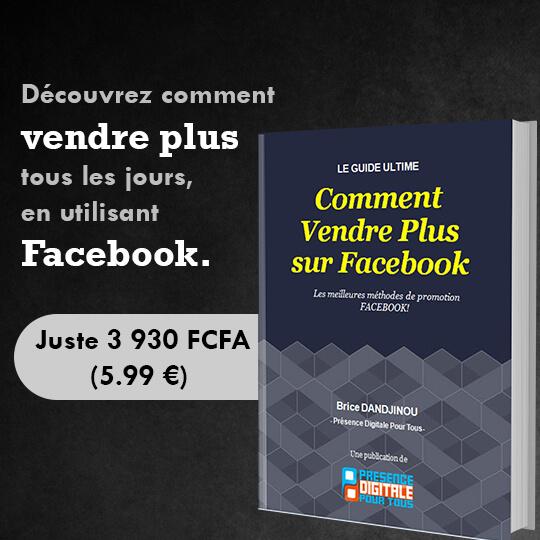 Comment vendre plus sur Facebook.